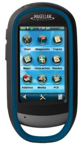 Magellan eXplorist 510 Waterproof Hiking GPS device - backcountry mountain geocaching road directions