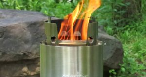 Solo Stove with Backup Alcohol Burner - No gas containers needed