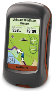 Garmin Dakota 20 Waterproof Hiking GPS device - directions backcountry hikes, car routes