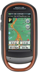 Magellan eXplorist 710 Waterproof Hiking GPS device - road directions