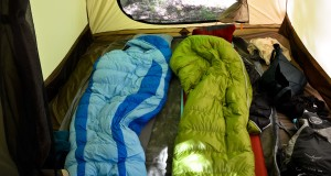 Backcountry outdoor camping sleeping bags