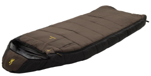 Browning Camping McKinley 30-Degree Nylon Diamond Ripstop Oversized Hooded Rectangle Sleeping Bag