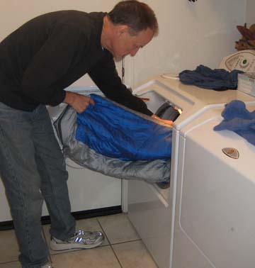 washing sleeping bag in machine