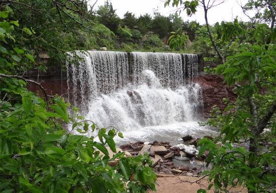 Cowley Lake Waterfalls Kansas