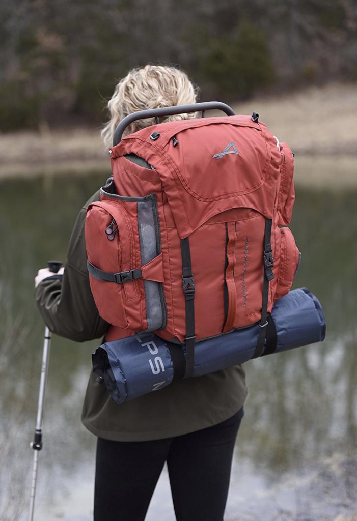 ALPS Mountaineering Lightweight Series Self-Inflating Sleeping Air Pad - easy carry backpack