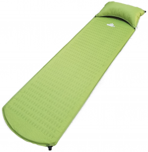 OutdoorsmanLab Lightweight Self-Inflating Sleeping Pad with Self-Inflating Pillow