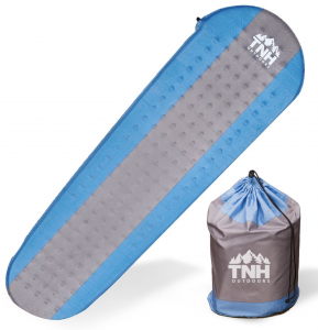 TNH Outdoors Self Inflating Sleeping Pad Lightweight Foam Padding and Superior Insulation