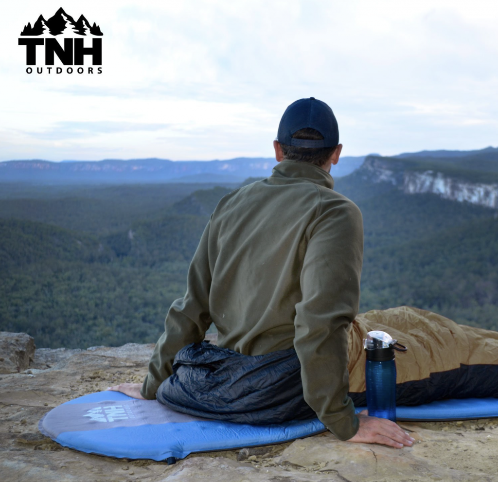TNH Outdoors Self Inflating Sleeping Pad Lightweight Foam Padding and Superior Insulation - great sleep